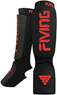 FIVING Shin Guard, Professional Leg Guard for Thai Boxing, Boxing, Sanda, Taekwondo, MMA, Martial Arts Trainin