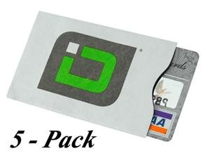 Secure Credit Card Sleeves-Case of 5