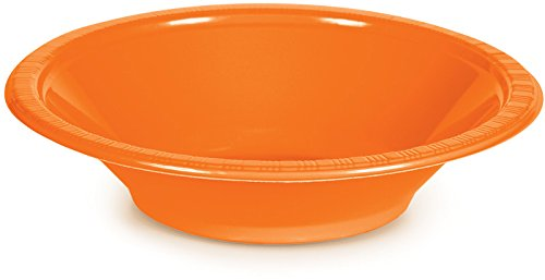 Creative-Converting-28191051-20-Count-Touch-of-Color-Plastic-Bowl-12-oz-Sunkissed-Orange