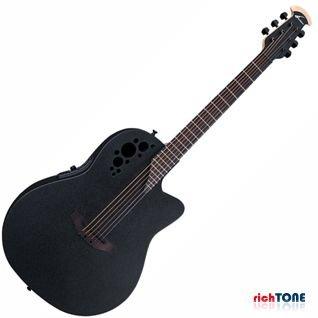 Ovation Elite TX 1778TX-5 Mid Depth Acoustic Guitar Black