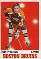 1970 Topps Regular (Hockey) Card# 2 Johnny Bucyk of the Boston Bruins Ex Condition