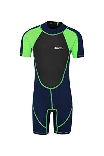 Mountain Warehouse Kids Shorty Wetsuit - Glide Zip Kids Wetsuit Green 11-12 years ()