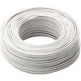 ICEL 00007407102 n07 V K-Cable eléctrico sección de 1,5 mm² BIANCO Bobina de 100 mt