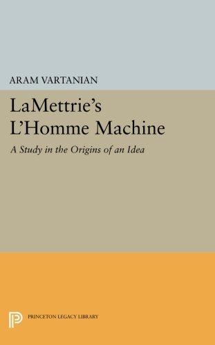 Download LaMettrie's L'Homme Machine (Princeton Legacy Library) pdf