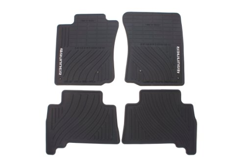 Genuine Toyota Accessories PT908-89000-02 Front and Rear All-Weather Floor Mat (Black), Set of 4 ()
