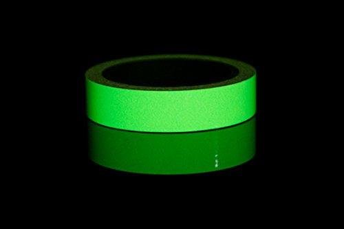 Starrey Glow in the dark tape Sticker Waterproof 1 inch 30 ft long lasting minmum 8 hours self-adhesive Luminous Photoluminescent/Luminescent Emergency Roll Luminous tape for stair theater by Starrey (Image #2)
