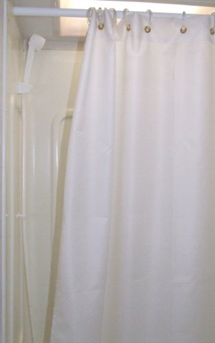 AB Lifestyles 47x64 Shower Curtain RV Shorter And Narrower Than Regular Color Off White Amazoncouk Kitchen Home
