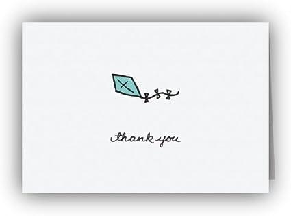 Cometa Azul tarjetas de agradecimiento – 24 tarjetas y sobres ...