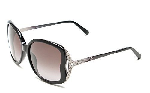 John Galliano Womens Black and Silver Sunglasses Gradient Smoke Lens JG0064 - Glasses Givency