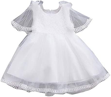 squarex Vestidos de bebé para niñas sin Mangas, Falda de Tul ...