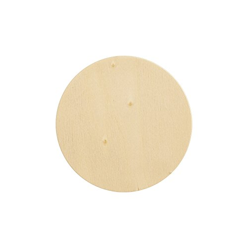 Natural Unfinished Round Wood Circle Cutout 6 Inch - Bag of 10 by Craftparts Direct