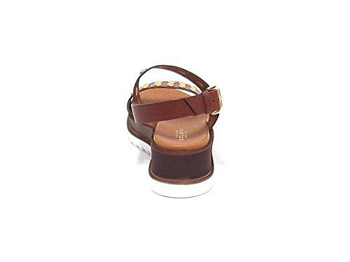 Soldini - Sandalias de vestir para mujer marrón cuero