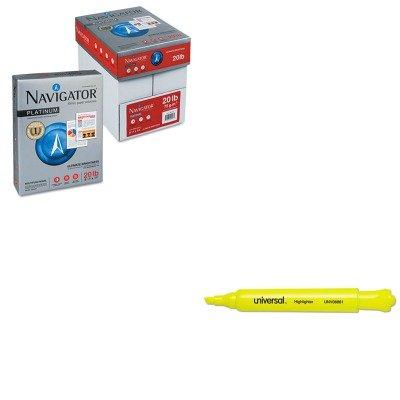 KITSNANMP1120PLTUNV08861 - Value Kit - Navigator Premium Multipurpose Paper (SNANMP1120PLT) and Universal Desk Highlighter (UNV08861)