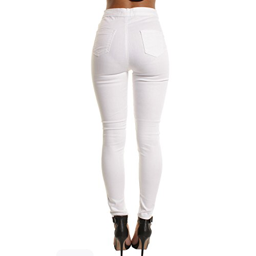 Blanc Casual Fille Jean Legging Straight Stretch Collant Femme Trouser Trou Pantalon Pant Semen Demin Dchir SFOn6TOZ