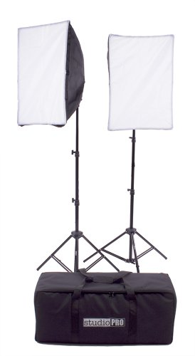 Fovitec StudioPRO 1800 Watt Photography Continuous Photo Video Studio Softbox Lighting Light Kit - Two 16