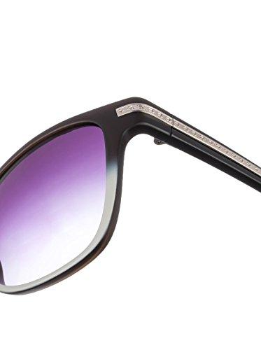 in Out 54 S1801 Grey Gradient AM4M Matte Bridge Noir Police Sunglasses Cut v5wInqZ