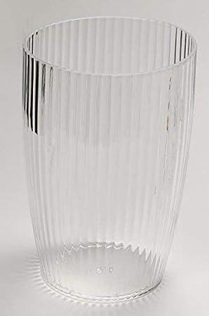 Palm Green Inc BA-APR//WB//73 Carnation Home Fashions Ribbed Acrylic Wastebasket