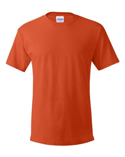 Hanes Men's ComfortSoft Short-Sleeve T-Shirt, Orange, XX-Large (Short Mens Practice Sleeve Tee)