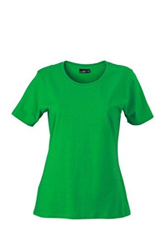 James & Nicholson Leicht tailliertes T-Shirt aus Single-Jersey Fern-green