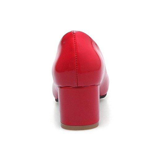 COOLCEPT Damen Blockabsatz Pumps Red