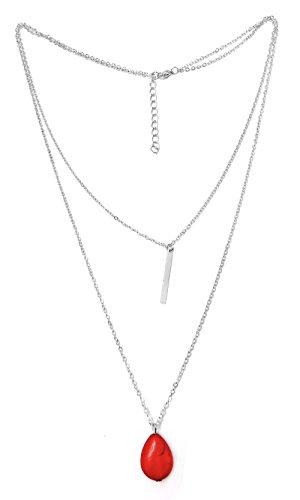 Suyi Womens Turquoise Pendant Necklace