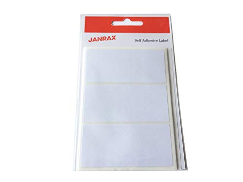 (Pack of 21 White 34x75mm Rectangular Labels - Adhesive)