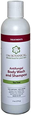 Antifungal Body Wash Organic Tea Tree Oil Soap for Men, Women   All Natural Remedy For Athletes Foot, Body Odor, ToeNail Fungus, Jock Itch, Yeast Infection, Body Acne, Eczema