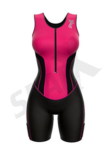 Sparx Women Triathlon Suit Tri Short Racing Cycling Swim Run (Small, Pink) by Sparx Sports (Image #2)
