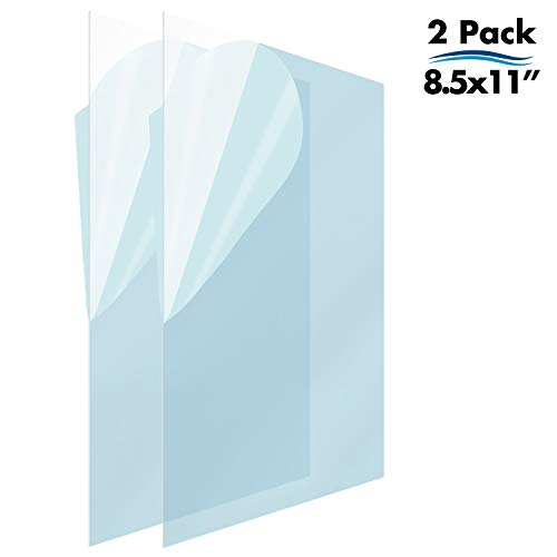 (Icona Bay PET Replacement Sheet for Diploma Frames (8.5 x 11, 2 Pack); PET is a Superior Clear Plastic, No More Shattered Glass, Ideal for Document, Certificate, and Degree Frames)