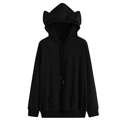 Sears Womens Hats - DongDong ♥ Women Fashion Sweatshirt, Cat Ear Long Sleeve Hooded Tops with Pocket