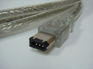 FireWire 400 Cable 6FT Clear 6pin Bilingual FireWire 800 AVBcable.com 9 PIN