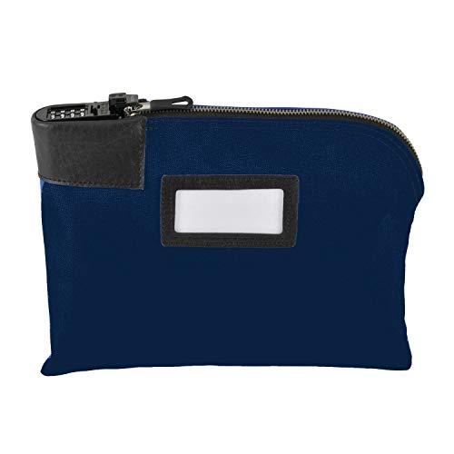 MMF Industries Classic Combination Lock Deposit Bag, 11 x 8-1/2 Inches, Blue ()