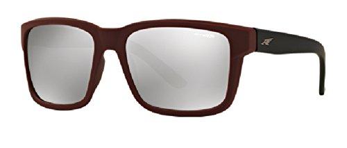 Arnette - SWINDLE AN 4218, Geometric, propionate, men, BURGUNDY BLACK/SILVER MIRROR(2325/6G), - Buy Arnette Sunglasses
