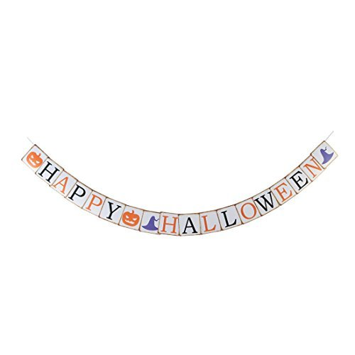 DealMux Paper Pumpkin Letter Print Hanging Halloween Decoration Photo Prop Banner Bunting]()