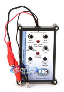 Audio Tone Test Generator (PAC TL-PTG2 Tone Generator and Speaker Polarity Tester with RCA Cable Tester)