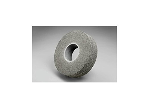 3M Scotch-Brite XL-WL Convolute Silicon Carbide Medium Deburring Wheel - Fine Grade - Arbor Attachment - 8 in Dia 9/16 in Center Hole - Thickness 3 in - 4500 Max RPM - 64824 [PRICE is per CASE] by 3M