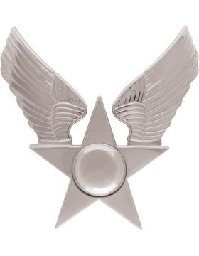 (USAF Honor Guard Hat Emblem with Nickel Hap Arnold)