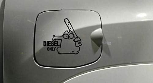 Myrockshirt Simons Cat Diesel Only Ca 15 Cm Aufkleber Sticker Decal Autoaufkleber Uv Waschanlagenfest Profi Qualität Auto
