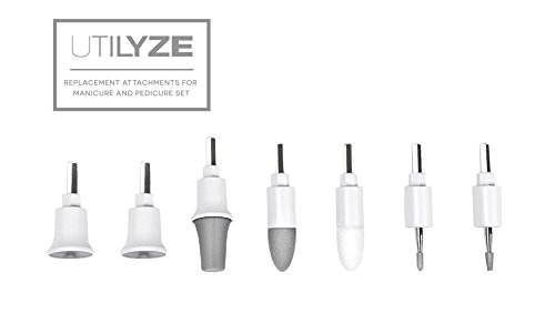 UTILYZE Replacement Attachments for Professional Electric Manicure and Pedicure Set by UTILYZE