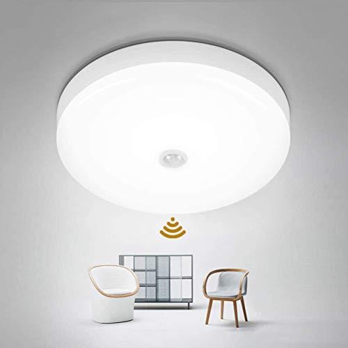 LifeBest Led-plafondlamp, bewegingssensor, licht, plafondlamp, modern, vlak plafondlamp voor keuken, woonkamer…