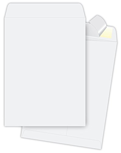 9 x 12 Self Sealing Envelopes White , Redi-Seal Envelopes 28lb,Box of 100 Catalog ,Open End Envelopes Columbian Open End Catalog Envelopes