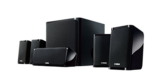 Yamaha NS-P40BL 5.1 Speaker Package (Black, Set of 6) (Package Subwoofer Home)