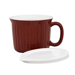 Corningware 20-Ounce Oven Safe Meal Mug with Vented Lid, Red (B00569OMMM)   Amazon price tracker / tracking, Amazon price history charts, Amazon price watches, Amazon price drop alerts