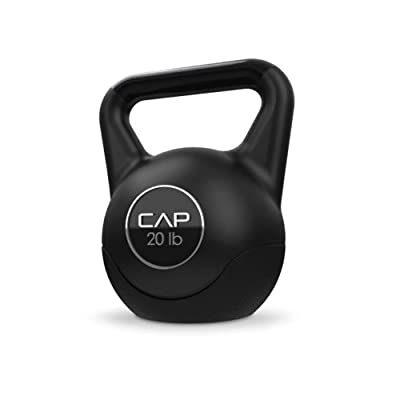 Cap Barbell Fitness Vinyl Kettlebell (Black) by Cap Barbell