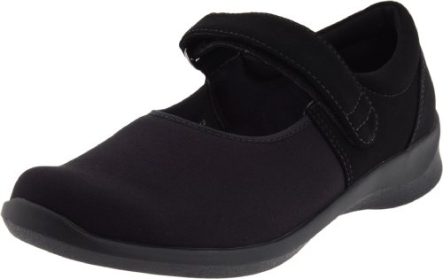 Aetrex Womens Helen Stretch Mary Jane Nero