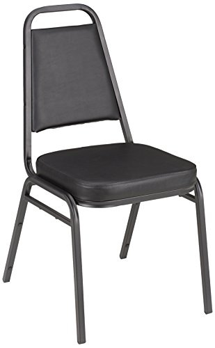 Stacking Chairs Steel Back (Vinyl Stacking Banquet Chair with Square Back, 18
