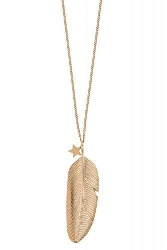 Goldkette mit federanhänger  Tom Shot - Goldkette mit Federanhänger und Stern-Charm: Tom Shot ...