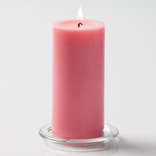 Richland 3'' X 6'' Hand Poured Pink Pillar Candle Set of 24