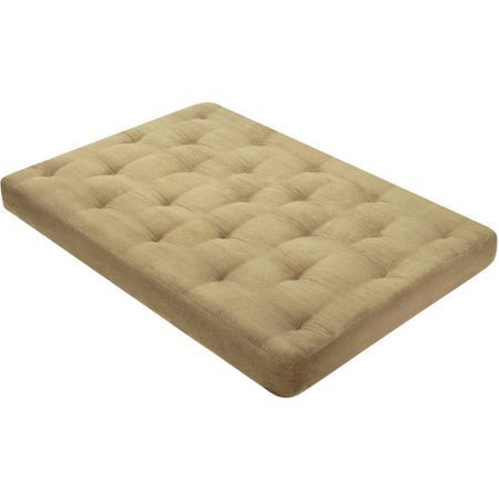 Cypress Futon Mattress, Khaki-Full, Premium Filling And Construction, Layers Of Cottonique Cushioning, Bundle With Ebook For Home Furniture (Cyprus Futon)