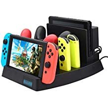 Upgrade 2019 Charging Dock for Nintendo Switch, FYOUNG Charger Stand for Nintendo Switch Console,Switch Pro controllers and Joy-Cons with 1 USB Type-C Cable, 1 DC Cable and AC Adpater
